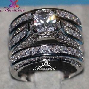 Princess Cut Jewelery 3 In 1 rings
